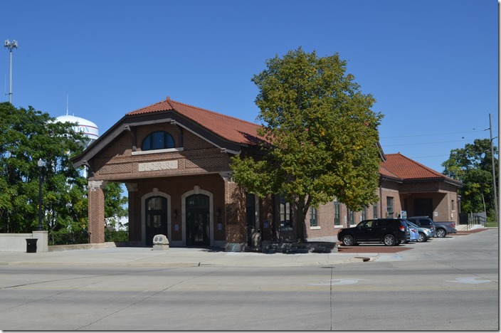 Former Illinois Central station at Mattoon, IL.