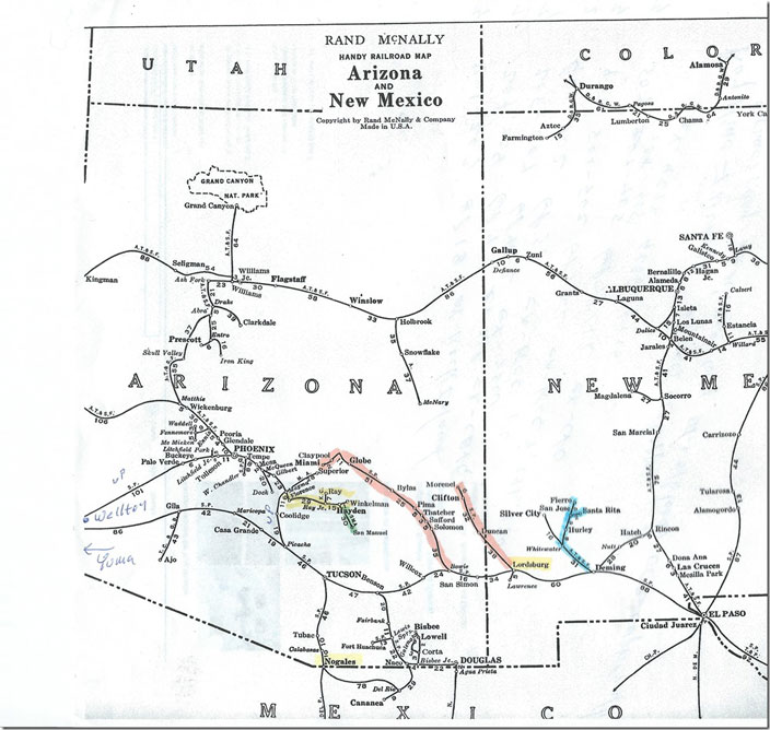 Rand McNally railroad map.