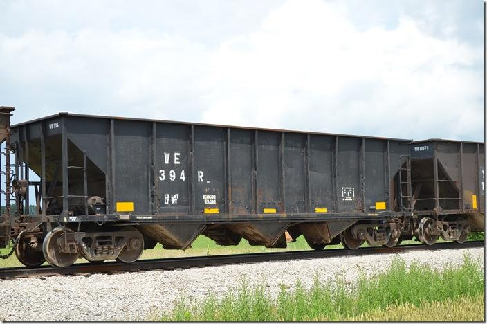 WE 394R is another former coal hopper now in restricted use. Carey OH.