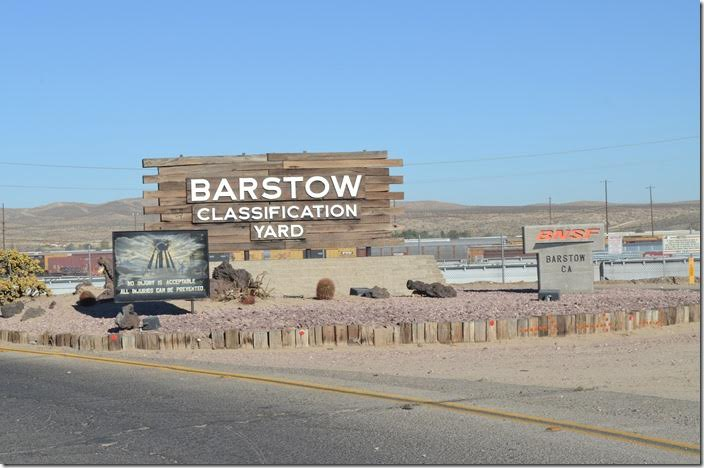 BNSF yard entrance. Barstow CA.