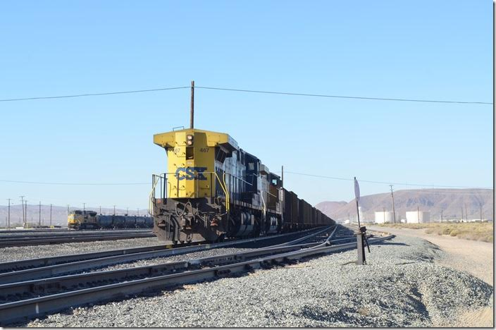 Came all this way to shoot a CSX AC! 467-UP 6817 will operate in DPU mode. Yermo CA.
