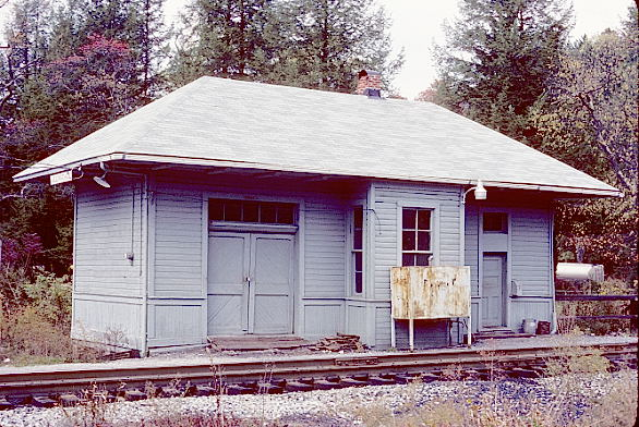 Former B&O depot and train order office at Allingdale, W.Va. Oct. 24, 1986. View 1