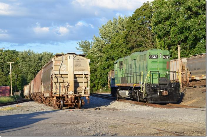 Shenandoah Valley Railroad's yard in Staunton. DGVR 6512. Staunton.