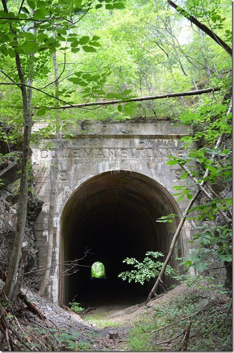 West portal of C&O Coleman Tunnel. Griffith.