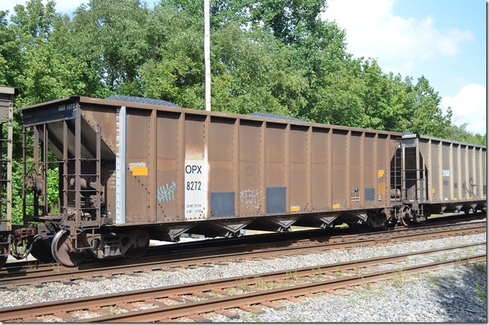 OPX (AEP Generation Resources - Ohio Power Co.) hopper 8272. Coal Run Jct KY. 09-01-2014.