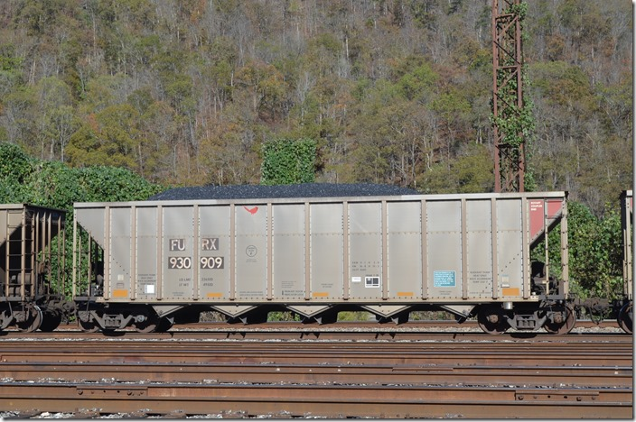 FURX hopper 930909 was built Freight Car America at Roanoke in 05-2006. 4200 cubic feet also. Ex-RWSX 6175. Shelby KY.