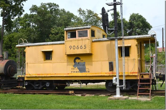 C&O 90665 was a one-of-a-kind rebuilt cab featuring an extended cupola. It was used out of Shelby in the early 1970's. Huntington.