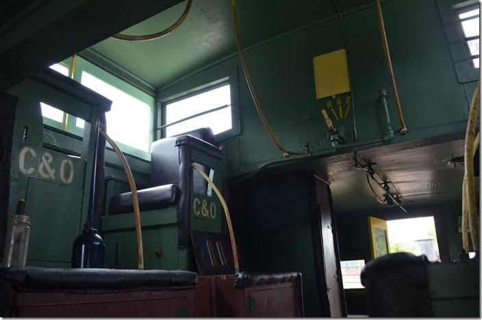 C&O cab 90665 interior.