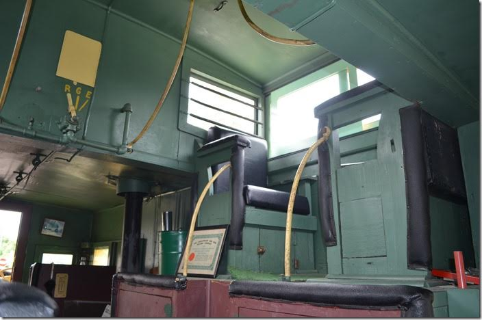 C&O cab 90665 interior. View 2.