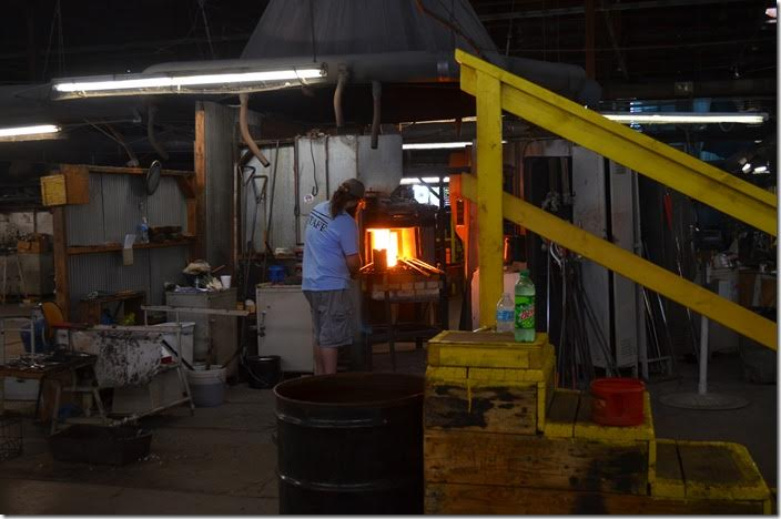 Our next stop was Blenko Glass Co. in Milton.