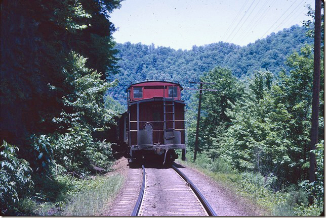 #95 with CRR cab 1065 at State Line Tunnel has slowed for entering Elkhorn Yard. 05-31-1971. Pool Point.