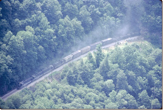 CRR 3623-3620-3621-2008 rumble out of State Line Tunnel with s/b #92. View 2. Nora