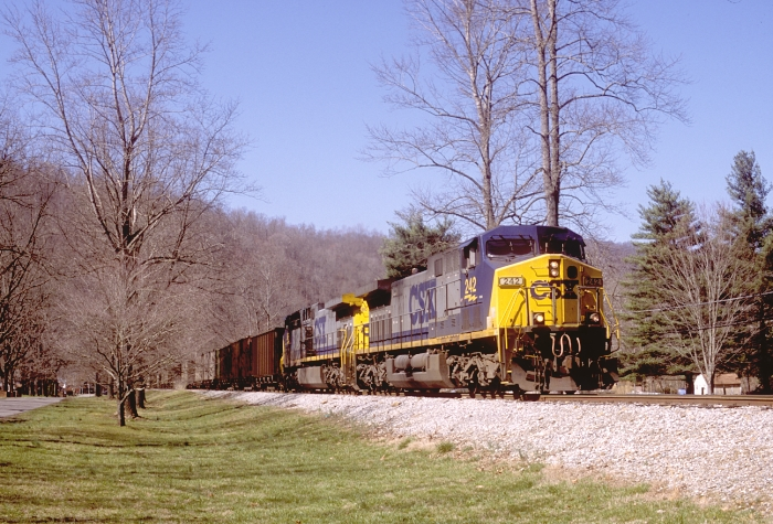 242 slowly moves upgrade near Mary Alice, Ky.