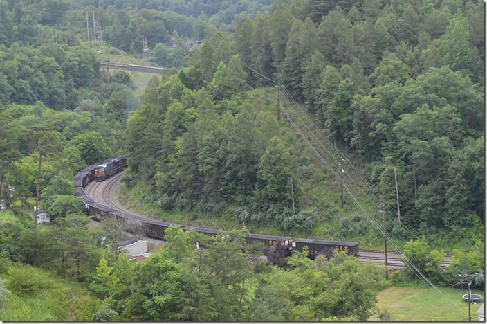 This was shot from the end of the big US 119 bridge. CSX 901. View 4. Bevins Branch Mine KY.