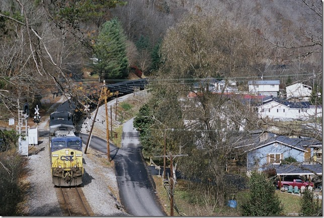 CSX 237-250 on S/B coal train U422-14 with system tubs. 11-16-2013.