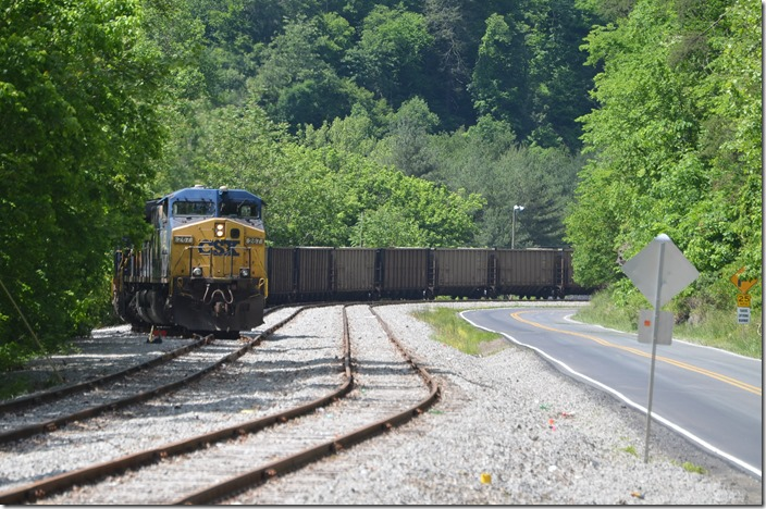 CSX 267-969 pull in a cut of VAPX and TILX empties. View 2.