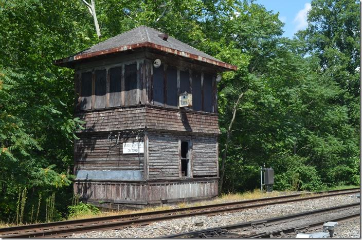 I was shocked that this structure was still standing! In the mid-60s it was still a continuously manned train order office. CSX GN Tower E Grafton WV.