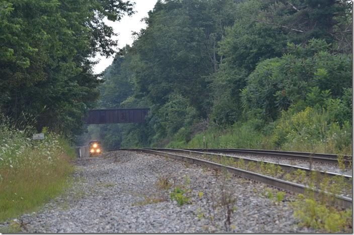 The most iconic location on the Cumberland West End is Terra Alta WV. T051 has almost topped the 11-mile Cranberry grade which has a max of about 2.4%. CSX 719-720.