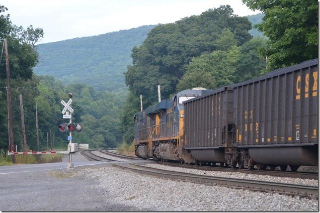 The depot was on the right just past the crossing. CSX 719-720. Swanton MD.