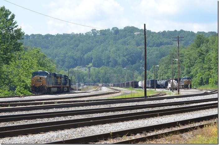 I think they stopped in a few feet for a crew change. CSX 719-720. Grafton WV.