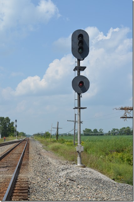 Clear signal for a westbound.