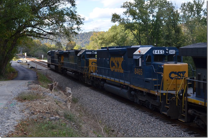 CSX 8465 was probably a remote-controlled yard engine from Erwin or Kingsport.