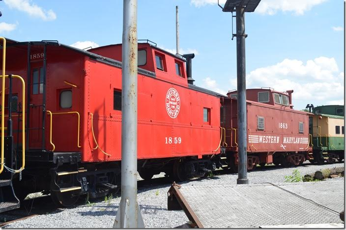 Restored WM class NE cabs 1859 and 1863. These were built at Hagerstown or Union Bridge (MD) shops in 1940. Hagerstown MD.