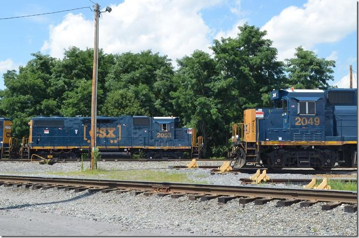 "CSX ""GP38-3"" rebuilds 2049 and 2053. Hagerstown MD."