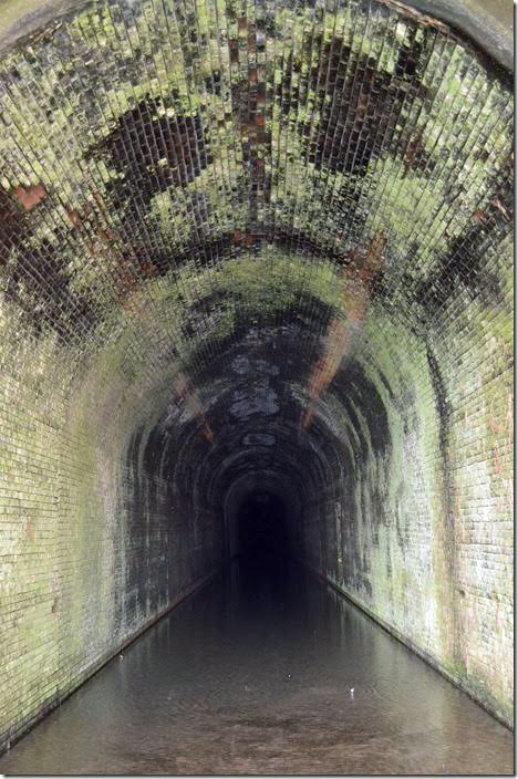 Interior of Great Bend Tunnel. ex-C&O. Talcott WV.