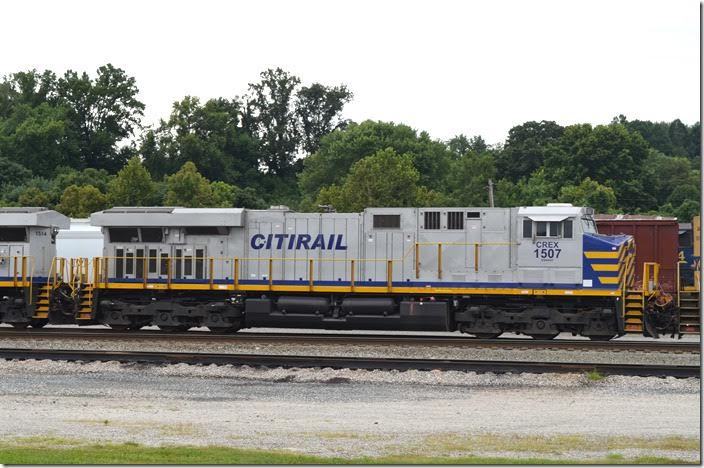 CREX ES44AC 1507. I saw these on the BNSF in Alabama a couple of years ago and have seen them recently on Big Sandy freights. View 2. Russell.