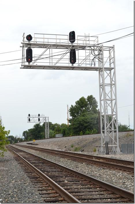 Clear signal on Big Sandy for a train on Track 1.