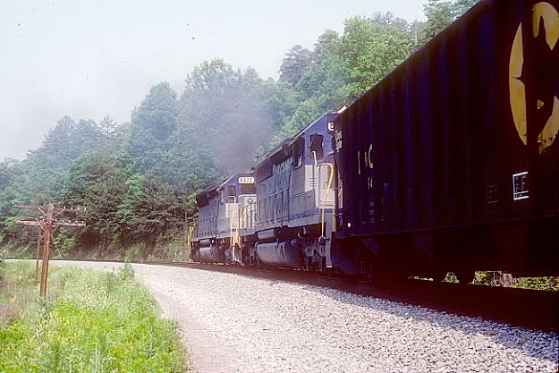 Patch. An SD40-2 and SD45 8922 shove hard.