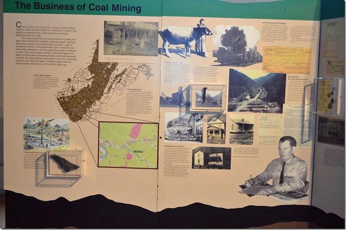 The museum has a good section on the coal and railroad history of the county. Dehue...A Special Place. The Business of Coal Mining.
