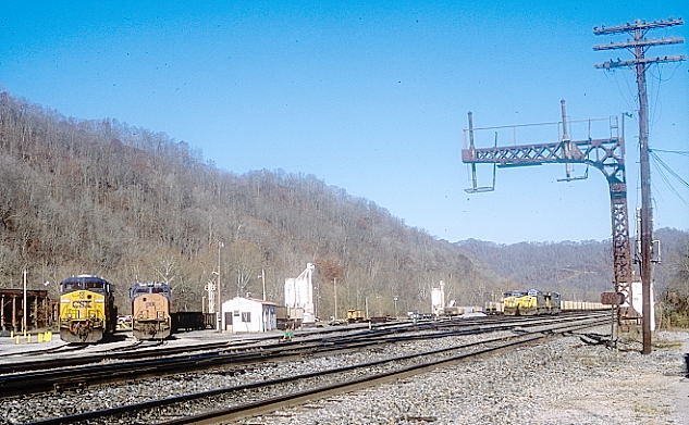 Looking west toward what was formerly called the 'loaded' yard where coal trains were made up.