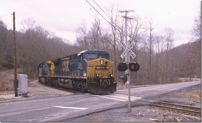 Crossing WV 20 at Top Siding.