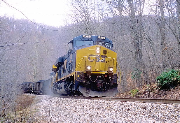 H802 assaults the steep grade up to Springdale with 37 loads.