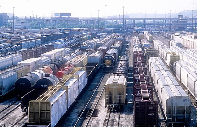 Another view of the Classification yard looking south with 8212.