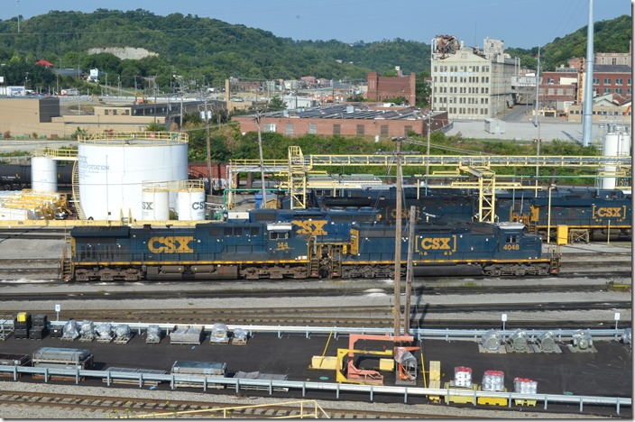 CSX SD40-3 4048 with 144. Queensgate OH.