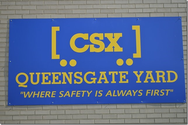 CSX sign. Queensgate OH.