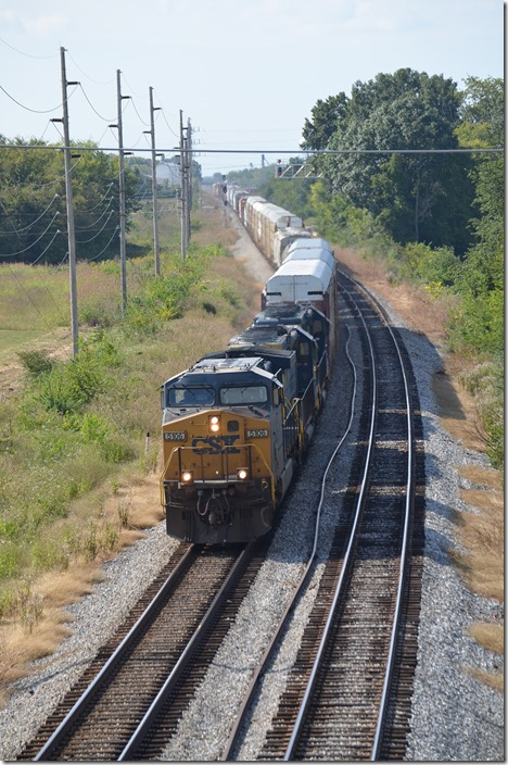 CSX 5106-8025-8048 with 71 cars. Bowling Green KY.