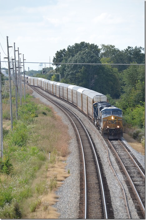 CSX 5377-8780 with 62 empty multi-levels. Bowling Green KY.