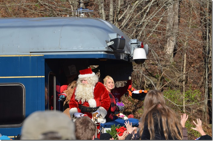 The special guest this year was country music singer Meghan Linsey. Santa was very popular also! Clinchco VA.  View 3.