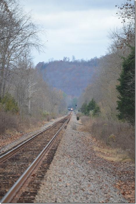 "The ""Hardwood Straight"" is two miles of tangent between MP 58 and 60. Supposedly it is the longest tangent on the old Clinchfield. CSX 4384. Hardwood VA."