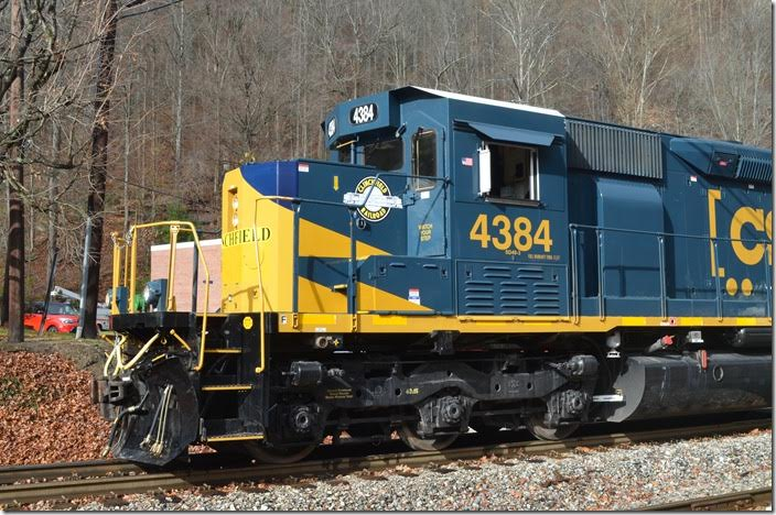 CSX SD40-3 4384 Dante VA. View 3.
