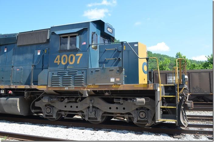 "CSX ""SD40-3"" 4007. Shelby. View3."