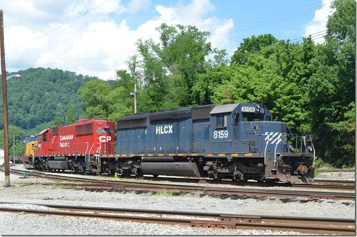 HLCX SD40-2 8159-CP 6223. 05-30-2015. Shelby.