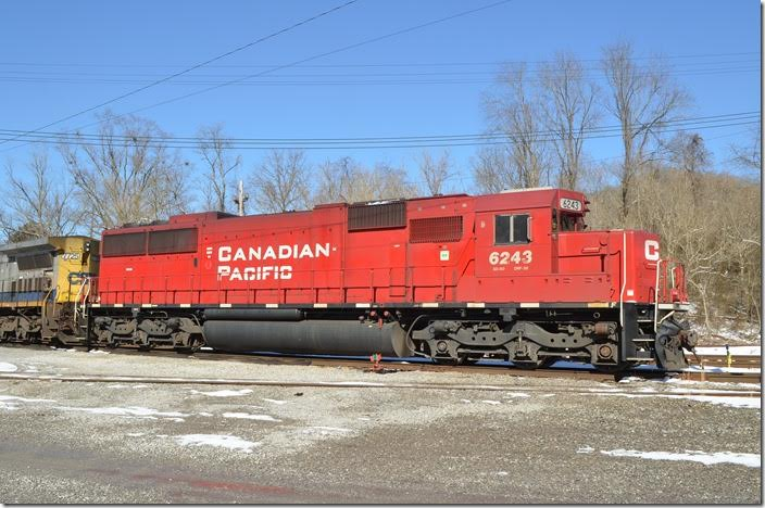 Ex-Soo Line. CP SD60 6243. Shelby. View 2.