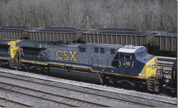 CSX AC60 616 at Shelby on 3-30-2013.