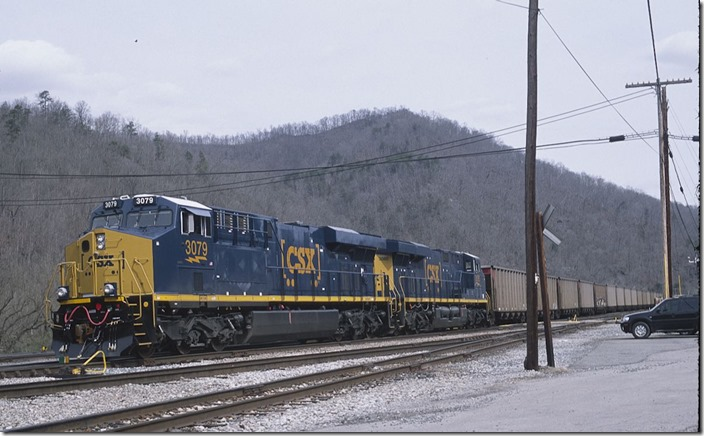 New ES44ACs 3079-3080 depart westbound with SCWX mtys. 3-16-2013.