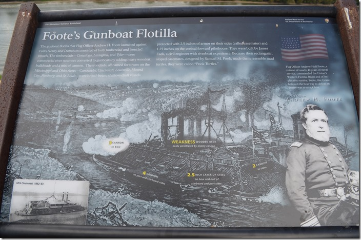 Foote's Gunboat Flotilla sign. Fort Donelson TN.